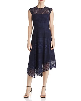 Donna Karan - Asymmetric Lace Dress