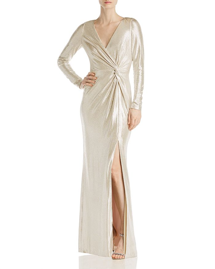 Eliza J - Metallic Wrap Gown