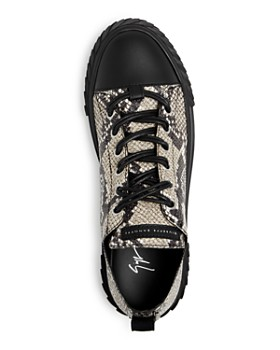Giuseppe Zanotti - Men's Snake-Embossed Leather Low-Top Sneakers