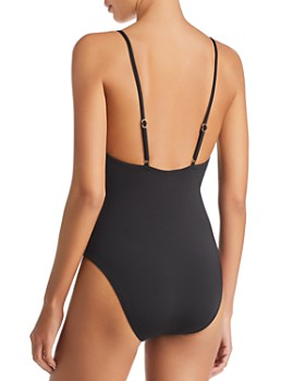Trina Turk - Getaway Solid High Leg One Piece Swimsuit