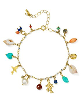 Chan Luu - Adjustable Dangle Bracelet in 18K Gold-Plated Sterling Silver
