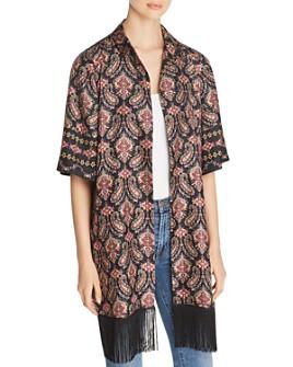 Kobi Halperin - Jaycee Paisley-Silk Kimono Jacket