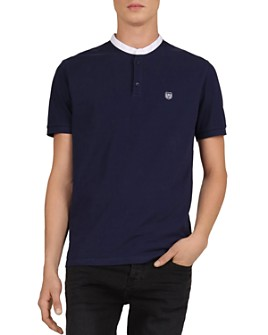 The Kooples - Contrast Collar Regular Fit Polo Shirt