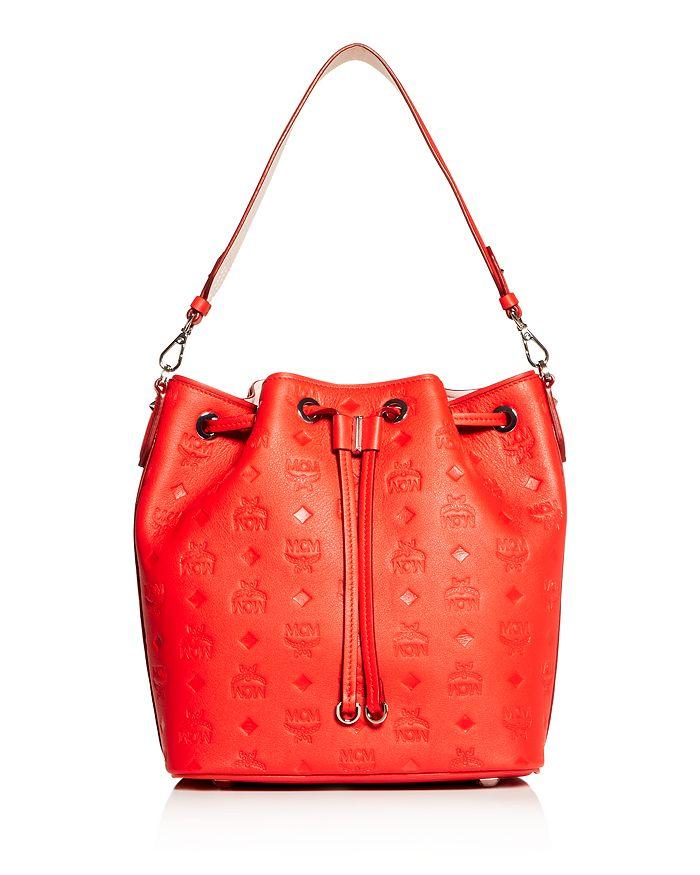 MCM - Essential Embossed Leather Bucket Bag
