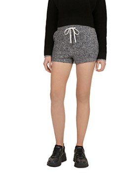 5549feb5331 The Kooples - Lace-Up Detail Fleece Mini Shorts ...