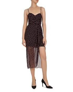 The Kooples - Polka Dot Silk Midi Dress