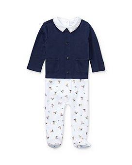 Ralph Lauren - Boys' 3-Piece Bodysuit, Overalls & Cardigan Set - Baby