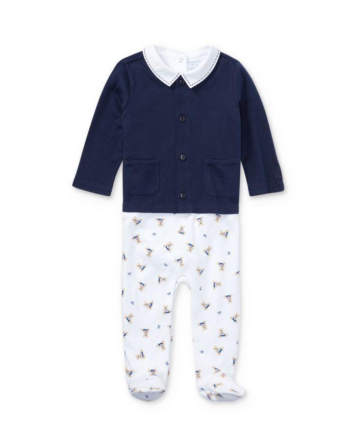 Ralph Lauren Boys' 3-Piece Bodysuit, Overalls & Cardigan Set - Baby  | Bloomingdale's