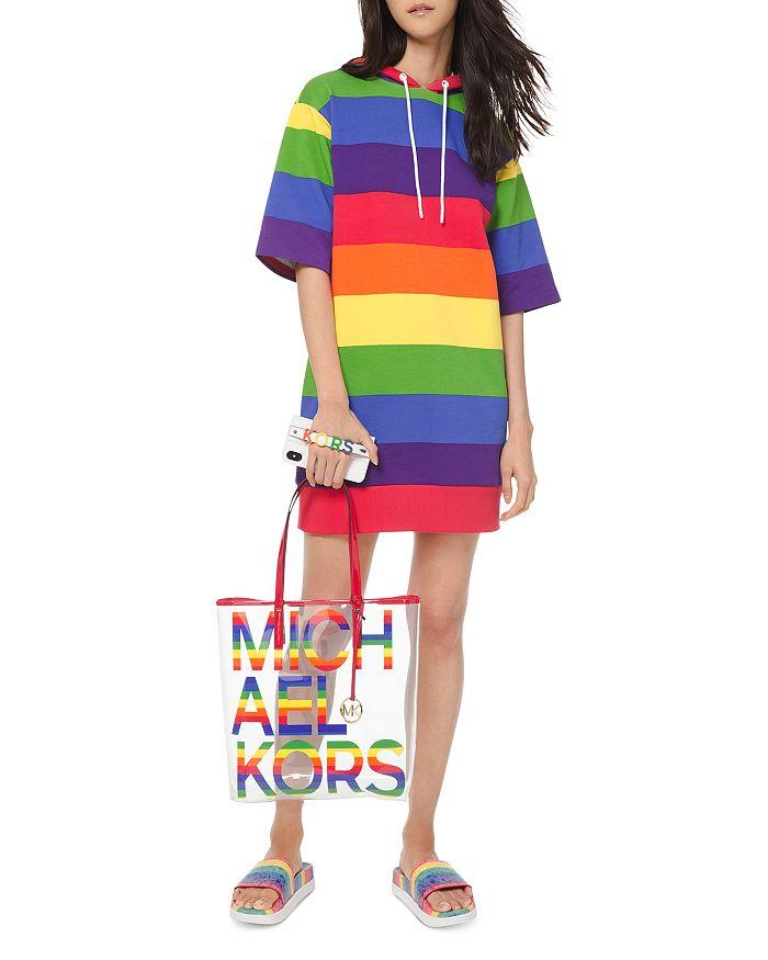 7e7914365 MICHAEL Michael Kors The Michael Large Clear & Rainbow Tote ...