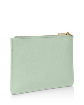 Whistles - Small Matte Croc-Embossed Clutch