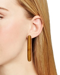 AQUA - Wood Hoop Earrings - 100% Exclusive