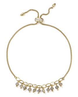 Nadri - Venice Dangling Bolo Bracelet in 18K Gold-Plated Sterling Silver