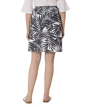 HOBBS LONDON -  Loretta Palm Print Pencil Skirt