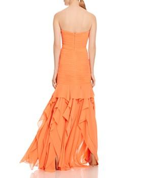 HALSTON - Strapless Georgette Gown