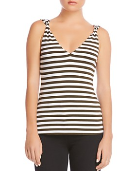 Bailey 44 - Okapi Twist Detail Striped Top