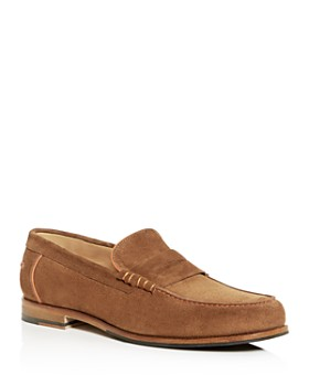 Paul Smith - Men's Teddy Moc-Toe Suede Penny Loafers