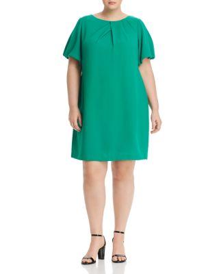 Melissa Masse Womens Short Sleeve Shift Dress