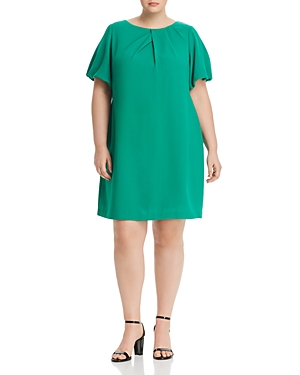 Adrianna Papell Plus Blouson-Sleeve Shift Dress