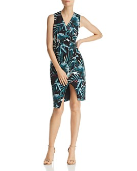 Black Halo - Nora Printed Faux-Wrap Dress