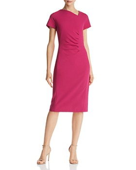 Donna Karan - Asymmetric Pleated Scuba Dress