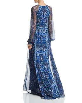 Tadashi Shoji - Scarf-Printed Gown