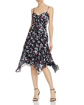 Parker - Kalina Handkerchief-Hem Floral Dress
