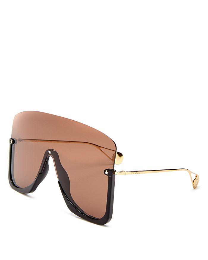 Men's Oversized Shield Sunglasses, 150mm