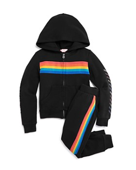 Butter - Girls' Rainbow Hoodie & Jogger Pants Set - Little Kid