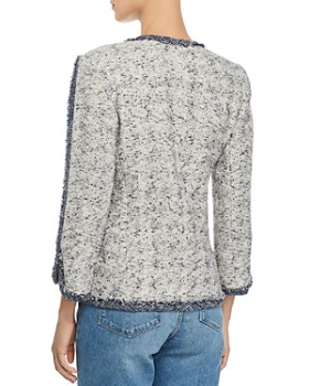 1d41671a3dd8 ... Rebecca Taylor - Open-Front Speckled Tweed Jacket