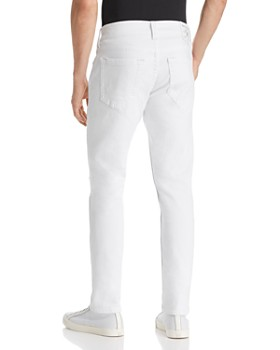 True Religion - Rocco No Flap Slim Fit Jeans in Optic White Destroyed