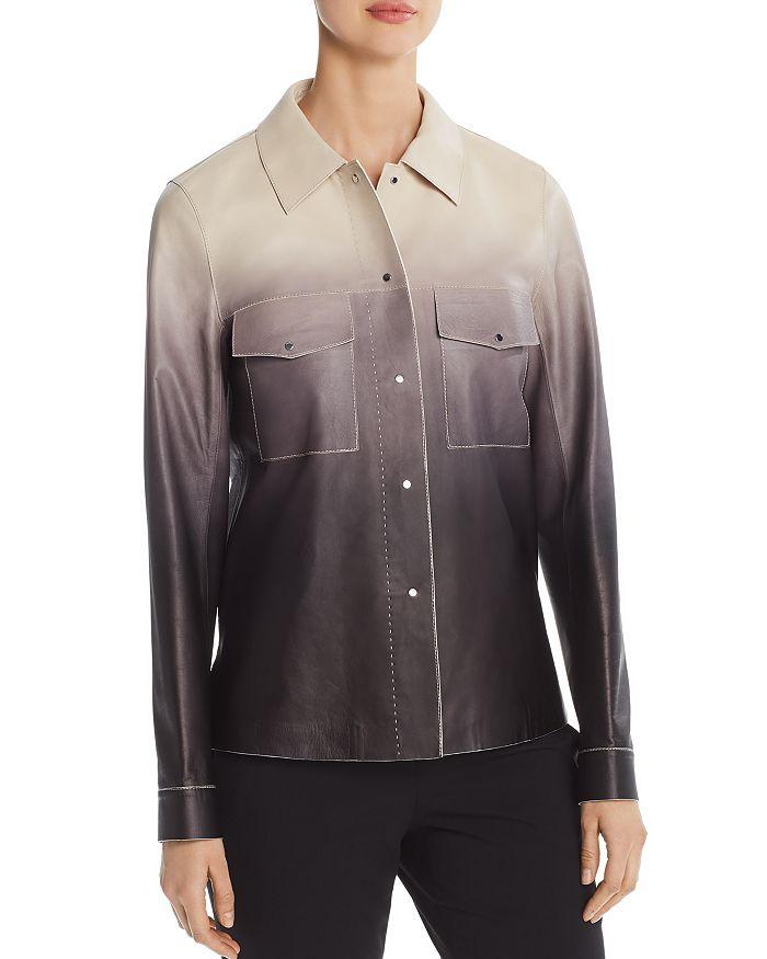 Lafayette 148 New York - John Ombré Leather Jacket