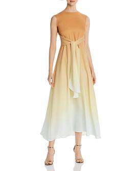 Lafayette 148 New York - Winslet Ombré Silk Tie-Waist Dress