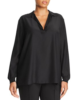 Lafayette 148 New York Plus - Boyd Silk Blouse