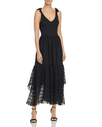Tiered Lace Knit Dress by La Vie Rebecca Taylor