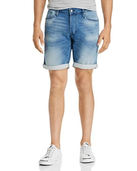 JACK + JONES - Icon Regular Fit Denim Shorts in Light Blue