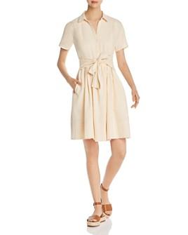 Donna Karan - Short-Sleeve Tie-Front Dress
