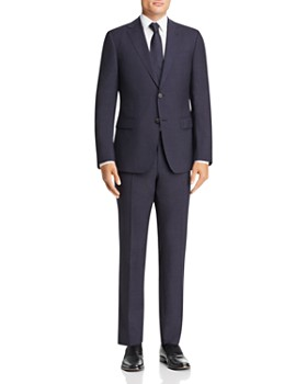 Z Zegna - Tonal Check Slim Fit Wool Suit