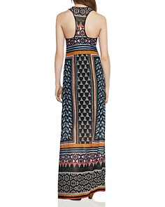 BCBGMAXAZRIA - Mixed-Print Lace Maxi Dress
