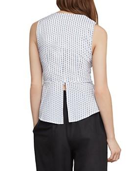 BCBGMAXAZRIA - Ikat-Stripe Tie-Waist Top