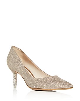 Sophia Webster - Women's Coco Glitter Mid-Heel Pumps