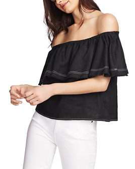 1.STATE - Off-the-Shoulder Linen Top