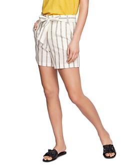 1.STATE - Cabana Stripe Tie-Waist Shorts