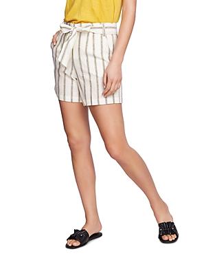 1.state Cabana Stripe Tie-Waist Shorts