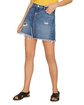 Sanctuary - Distressed Denim Mini Skirt