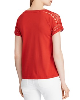 Ralph Lauren - Lace-Trim Top