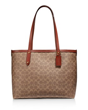 COACH - Signature Coated Canvas Central Tote