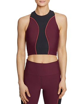 Betsey Johnson - Piped Color-Block Sports Bra