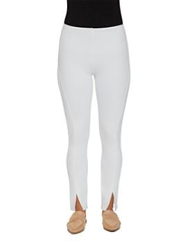 Lyssé - Front-Slit Denim Leggings in White
