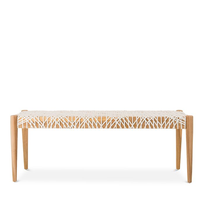 Surprising Bandelier Leather Weave Bench Uwap Interior Chair Design Uwaporg