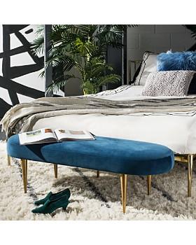 SAFAVIEH - Corinne Velvet Oval Bench